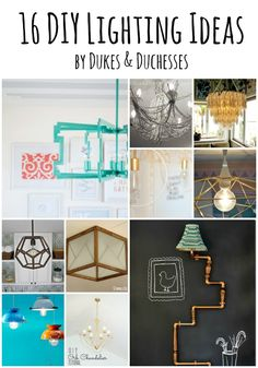 I've been looking for some fun lighting ideas for my home and thinking about doing some creative DIY lighting in a few different rooms.  There are some really great ideas that inspire me and I thought I'd gather them up so you can be inspired too!  Check out this collection of 16 DIY lighting ideas! …