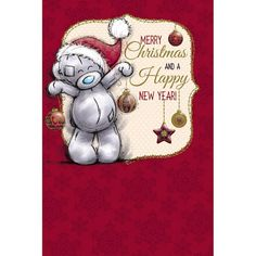 Tatty Teddy Holding Decorations Me to You Bear Christmas Card  £2.49