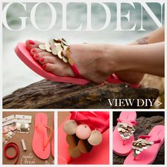 DIY Flip Flops with Paillettes Feature www.trinketsinbloom.com