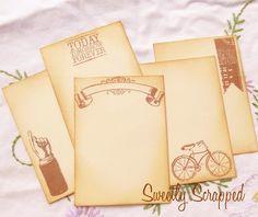 Variety of Vintage Journal cards