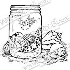 Mason Jar Coloring Page  Free Printable  Free printable Jar and