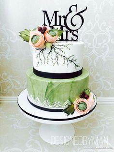 Tall Wedding Cakes, Wedding Cakes With Cupcakes, Beautiful Wedding Cakes, Gorgeous Cakes, Pretty Cakes, Amazing Cakes, Bolo Floral, Floral Cake, Mini Tortillas