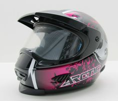 Motocross Snowmobile Helmets Fxr Arctic Cat Green