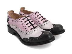 Amanda (Black, Grey & Purple) by John Fluevog Shoes. Amanda Black, John Fluevog Shoes, Cb 500, Wingtip Shoes, Brogues, Kinds Of Shoes, Pretty Shoes, Toe Shape, Me Too Shoes