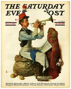 The Saturday Evening Post, Practiced (November 7, 1931) by Norman Rockwell
