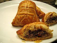 Star Wars party food - Darth Vader Sausage Rolls!