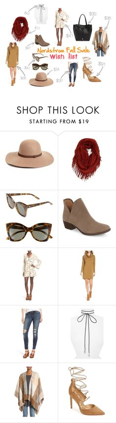 """Nordstrom Fall Sale"" by thetravelingswan on Polyvore featuring Caslon, BP., Le Specs, Lucky Brand, Wayf, Lush, Vanessa Mooney, Nordstrom and Sam Edelman"