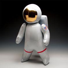 Ceramic Sculptures by Brett Kern Look Like Inflatable Toys toys sculpture dinosaurs ceramics