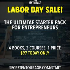 Sale ends in just a few hours! If you don't know where to start with your business click the link in our bio NOW to get our best content on the subject for over 50% off. #motivation #entrepreneur #smallbusiness #secretentourage #teamentourage #success #startabusiness #motivation #success #quotes #inspiration