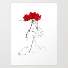 flowers of Cyprus Art Print by Svetlana Iva - $17.68