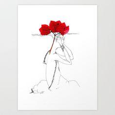 flowers of Cyprus Art Print by Svetlana Iva - $17.68