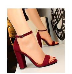 9a537415c Dark Red High Heels Sandals High Heels For Prom