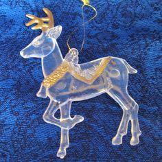 Vintage Molded Acrylic Christmas by NowAndThenConnection on Etsy