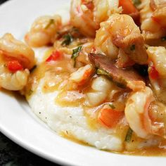 Shrimp and Grits - the RIGHT way! With cheese grits!