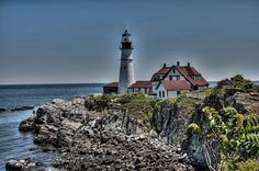 Lighthouse in Maine by Fred Schiding, via 500px