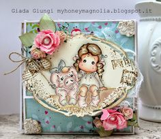 My honey Magnolia: Album Tilda with Scarlet the pig