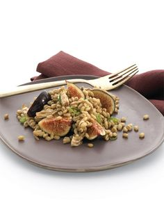 Barley, Chicken, and Fig Salad | Whole Living