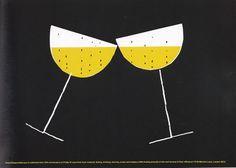 Su trabajo se distinguen por: La limpieza, el buen gusto y los elementos sorpresivos. Alan Fletcher - D&AD Champagne