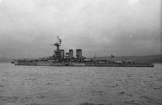 HMS Tiger after Jutland 1916. Imperial War Museum photo