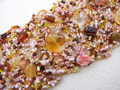 Free form peyote bracelet   beadwoven bracelet by Anabel27shop,