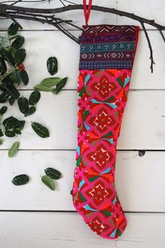 Unique Bright Boho Patterned Stocking by Cody Foster and Co.