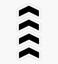 These Chevrons Point in One Direction Pegatina