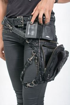 Apocalyptic Distress hip and shoulder holster Bag by JungleTribe
