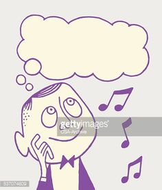 person thinking of music clipart - Google Search