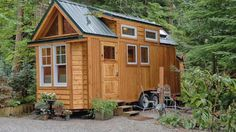A 170 sq ft tiny house, offered for rent by Hope Island Cottage on Fidalgo Island in Washington.