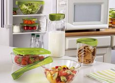 "How do you keep a tight lid on all things ""fresh""? We suggest Luminarc's ""Keep'N"" collection! #Fresh #Luminarc #French #Paris #Glass #Healthy #Diet"
