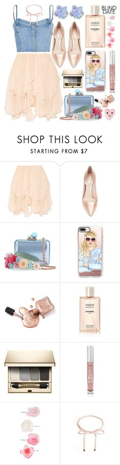 Dress to Impress:Blind Date by grozdana-v on Polyvore featuring moda, Chloé, Nicholas Kirkwood, Sophia Webster, Casetify, Accessorize, Clarins, Victoria's Secret, Chanel and ban.do