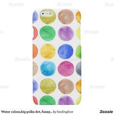 water colourbig polka dot funnycutegirlytrend glossy iphone