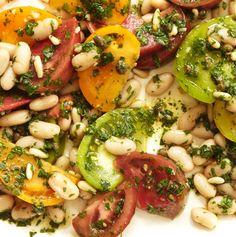 Tomato bean salad