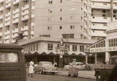 Pre-Revolution architecture and engineering, Havana, Cuba, 1956, photograph by Edificio Focsa.