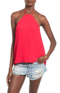 Check out the Leith 'Flounce' Halter Top from Nordstrom: http://shop.nordstrom.com/S/4125007