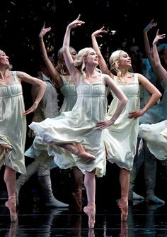 "American Ballet Theatre's corps in Alexei Ratmansky's ""Firebird."""