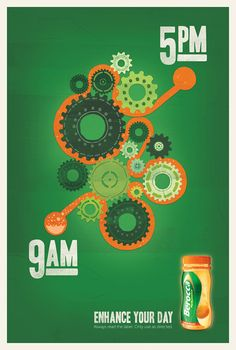 Berocca Print Advert By The Campaign Palace: Cogs Web Design, Creative Design, Logo Design, Clever Advertising, Advertising Design, Ad Of The World, Creative Illustration, Cogs, Cool Logo