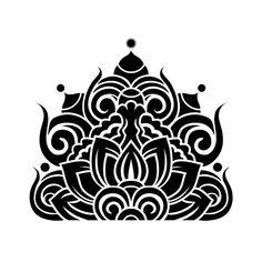 연꽃문 Motif Design, Skull Design, Mandala Design, Plate Design, Korean Art, Asian Art, Korean Design, Chinese Patterns, Stamp Carving