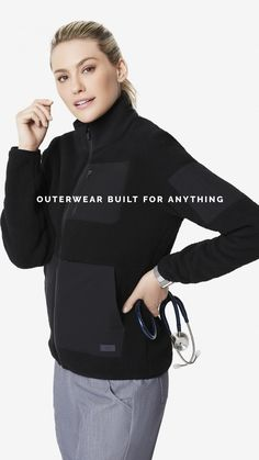 Constructed with luxe fabrics and high-tech functionality, our new outerwear will take you from work to adventure to travel and beyond. Shop it all now. Black Women Fashion, High Fashion, Womens Fashion, Athletic Women, Athletic Wear, Outerwear Women, Black Women Hairstyles, Handbags Michael Kors, Stylish Outfits