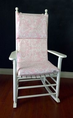 Rocking Chair Cushion For Baby Nursery. Baby Pink Damask By RockinCushions  On Etsy, $75.00
