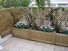 Jardinière avec brise-vue | Palettes | Pinterest | Brise vue ...
