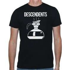 Descendents - Large Coffee Pot T-Shirt The Human Fund, Cool Outfits, Coffee, Mens Tops, T Shirt, Clothes, Shopping, Fries, Image