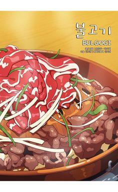 and Drink wallpaper cartoon Korean Dishes, Korean Food, Recipe Drawing, Food Cartoon, Cartoon Recipe, Cute Food Art, Cute Food Drawings, Food Menu Design, K Food
