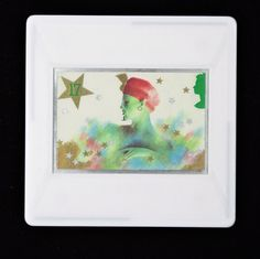 """Christmas Brooch """"Pantomime - Genie of the Lamp"""" 1985 Vintage Royal Mail Postage Stamp Brooch - StampPins Royal Mail Postage, Pantomime, 1st Christmas, Stamp Collecting, Postage Stamps, Love Story, Genie Lamp, Delicate, Entertaining"""