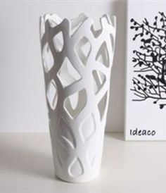 Ceramic Cut Out Vase slab construction