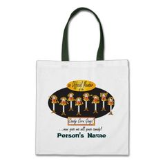 Candy Corn Gang Treat Bag.  Official member of the Candy Corn Gang. Cute treat or trick bag with a little humor. Customize. Look for more items in my store.  Designs by DonnaSiggy. #Halloween,#Halloween Treat Bag, #candy
