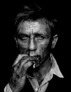 Daniel Craig after a day under the car.....