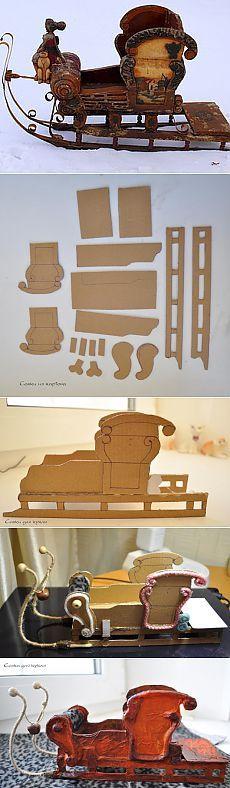 """Санки для игрушки или куклы """"Стилизация под старину"""" - Ярмарка Мастеров - ручная работа, handmade"""
