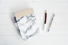 DIY Marble Covered Notebook