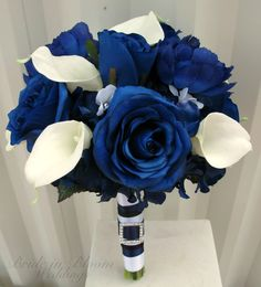 Blue rose Wedding Bouquet Brides bouquet by BrideinBloomWeddings